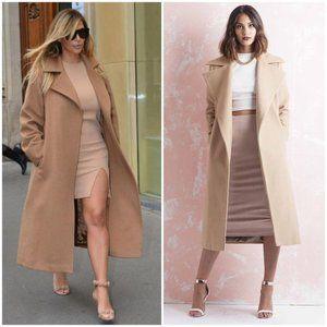 Zara Long Camel Coat